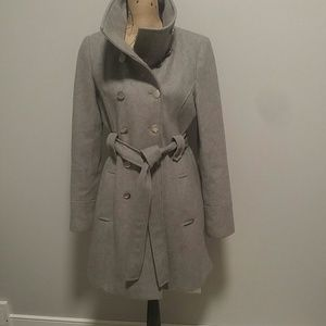 Wool coat grey/ fully lined size 6